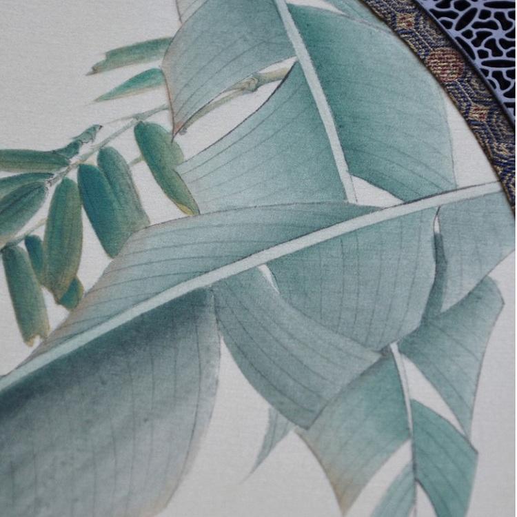 lijing/李晶 手绘芭蕉鸣蝉团扇