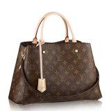 Louis Vuitton/路易威登 LV女士Montaigne中号两用手袋  帆布/配皮 单肩包 M41056
