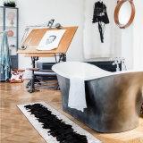 DOWNESSA黑白经典 设计师原创毛皮拼接地毯 35*135CM