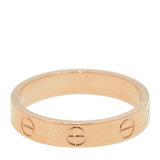 CARTIER/卡地亚love18K玫瑰金女性戒指\指环