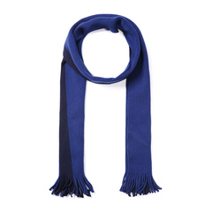 HUGO BOSS/雨果波士围巾-男士黑牌深兰围巾 材质:100羊毛图片