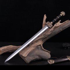 Zhou Shi/周氏 龙泉剑 非物质文化遗产 西楚霸王剑  手工锻打 印尼黑檀木鞘图片
