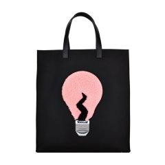 FENDI/芬迪 女士黑色尼龙手提包购物袋8BH334 52E图片