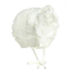Hanakimi英国HandMadeBonnet帽公主帽新款女童满月宝宝婴儿春秋款帽子KM0011507图片