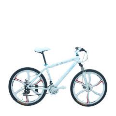 耐嘛 26寸铝合金自行车21速禧马诺变速轴承中轴一体轮山地车 白色图片
