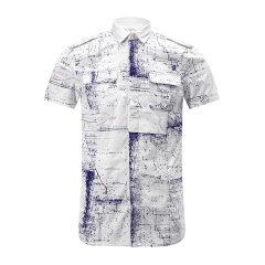 DIESEL/迪赛男士衬衫-男士白底蓝印花衬衫白底蓝印花 XL图片