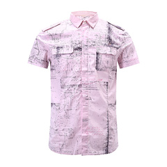 DIESEL/迪赛男士衬衫-男士粉色衬衫粉色 S图片
