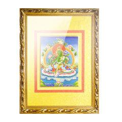 goldentara/金色度母掐丝工艺唐卡绿度母佛像78cm*58cm图片