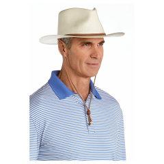 Coolibar 多国防晒机构认证 优质稻草手工编织专利工艺宽檐普拉玛男士 遮阳帽 UPF50+图片