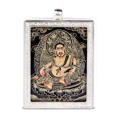 goldentara/金色度母吉祥护身纯手绘随身西藏小唐卡黄财神佛牌(不含链)图片