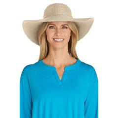 Coolibar 多国防晒机构认证 可压易携带防变形 宽檐女士遮阳帽 UPF50+图片