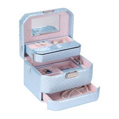 OC/开合首饰盒专柜正品 韩国公主多层珠宝盒 欧式带锁 收纳盒饰品盒图片