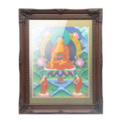 goldentara/金色度母手绘唐卡释迦牟尼佛画心32cm*24cm  随机送画框图片