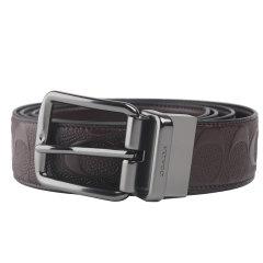 COACH/蔻驰 男士 牛皮 浮雕C纹印花皮带针扣式腰带  F55157图片