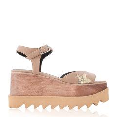 【Designer Shoes】【包税】Stella McCartney/斯特拉·麦卡特尼 Elyse女士仿皮革松糕厚底多色  坡跟凉鞋 453590W0781浅咖啡色 39图片