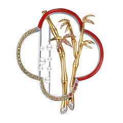 SUMMER PALACE/颐和园皇家珠宝 多用途三种戴法珐琅胸针长项链 丝巾扣 西装礼服搭配图片