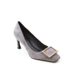 Ozwear ugg/Ozwear ugg  高跟鞋 春夏新款 羊绒鞋面 方钻扣7CM细跟 女士高跟鞋图片