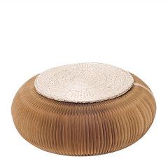 shibazhi/十八纸 日式简约折叠茶几小圆凳 草垫款式随机赠送图片