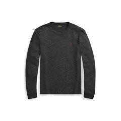 Ralph Lauren/拉夫劳伦 小马标纯棉男士长袖修身T恤414723 XL 深灰色图片