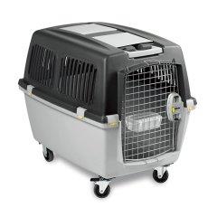 【新品】StefanPlast利快意大利进口宠物笼宠物箱宠物盒便携狗笼带轮(61*40*38cm)图片