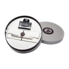 Pelikan百利金 传统系列 M205 雕花金尖钢笔 活塞入墨金笔 墨水套装礼盒图片