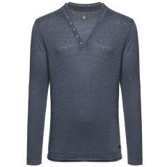 Vittorio Di Giacomo/迪伽默男士圆领亚麻长袖T恤—男士长袖T恤图片