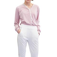 [18SS]BIBYSEOB白色V领针织T恤图片