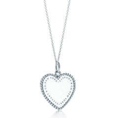 【包税】Tiffany & Co./蒂芙尼  女士TIFFANY TWIST系列中号纯银爱心吊坠项链#图片