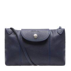 【满2000返500】Longchamp/珑骧  LePliageCuir系列女士黑色羊皮折叠斜挎单肩包邮差包 1061737-001-034#181116TB黑色图片