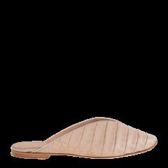 【奢品节可用券】Josefinas 手工制作Cleopatra经典鳄鱼皮穆勒鞋(双色可选)图片