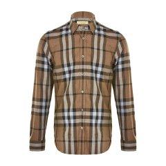 BURBERRY/博柏利  男士棉质格子长袖衬衫 4043770图片