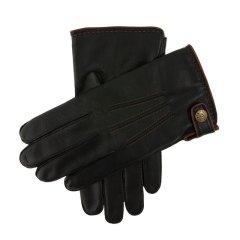 Dents/Salisbury 男士羊羔皮内衬皮手套 撞色锁边缝线 搭扣设计 柔软保暖图片