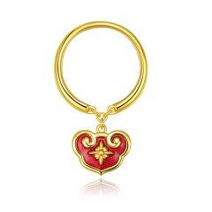 GONG XI LI/宫喜礼 故宫文创珠宝  新年如意珐琅荷包戒指图片