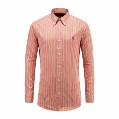 U.S.POLO.ASSN/U.S.POLO.ASSN美国马球协会男士长袖时尚彩条纹翻领商务男士衬衫图片