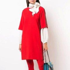 GUCCI/古驰 19春夏 红绿条织带装饰女士连衣裙#528977 ZKR01 1060图片