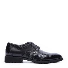 【买赠】CHARRIOL/夏利豪  牛皮 鳄鱼纹牛津鞋男士商务正装鞋图片