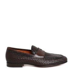 SANTONI/圣东尼 商务休闲鞋 男士低帮编织装饰休闲鞋图片