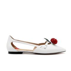 DK UGG/DK UGG  平跟凉鞋 小羊皮 水晶尖头樱桃鞋图片