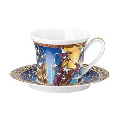 Rosenthal Meets Versace 范思哲22K纯金粉描边带碟意大利浓缩咖啡杯一杯一碟图片