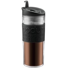 bodum波顿随行杯  双层塑料办公外出隔热水杯450ml车载杯水杯茶杯图片