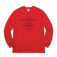 【Supreme X Undercover X Public Enemy 超级三方联名】supreme 三方联名  星空 长袖 T恤图片
