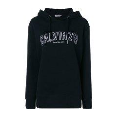 【包税】Calvin Klein 卡尔文 克莱恩 女士全棉logo刺绣连帽衫图片
