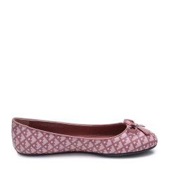 BALLY/巴利帆布涂层时尚印花元素蝴蝶结装饰女士平跟鞋单鞋图片