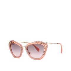 MiuMiu/缪缪太阳镜 SMU04Q 女士镶钻猫眼墨镜 可调试鼻托眼镜图片