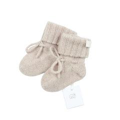 NUcollection罗纹翻边婴儿羊绒短袜图片