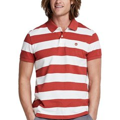【包税】Timberland/添柏岚  户外男士翻领条纹短袖POLO衫 TB08744J图片