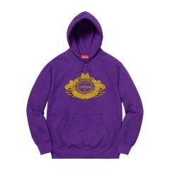 Supreme 18fw Love or Hate Hooded 大logo 刺绣 帽衫 卫衣图片