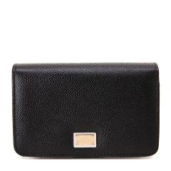【可用劵】Dolce&Gabbana/杜嘉班纳钱包-女士黑色时尚皮票夹 材质:牛皮图片