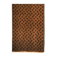 Alexander McQueen/亚历山大麦昆骷髅头印花 60%羊毛 40%絲 丝巾/围巾/披肩354949 深咖啡色图片