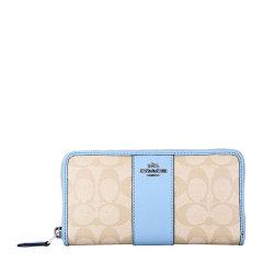 COACH/蔻驰 女士拼色PVC配皮长款钱包皮夹 F54630图片